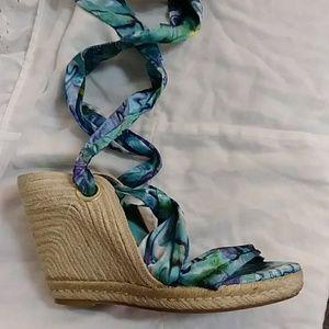 Bcbg platform wedge sandals